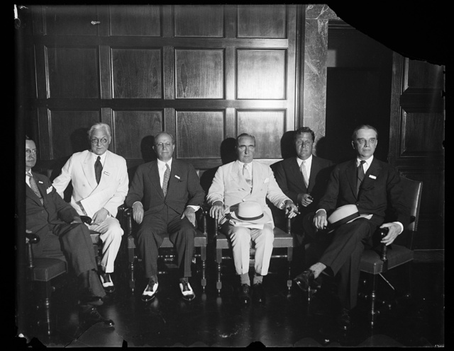 [Group; Ogden Nash, 3rd from right]