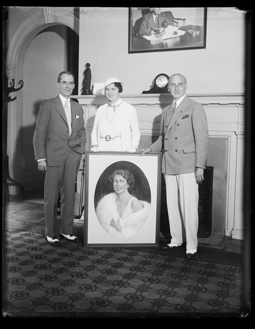 [Group with portrait of Eleanor Roosevelt]