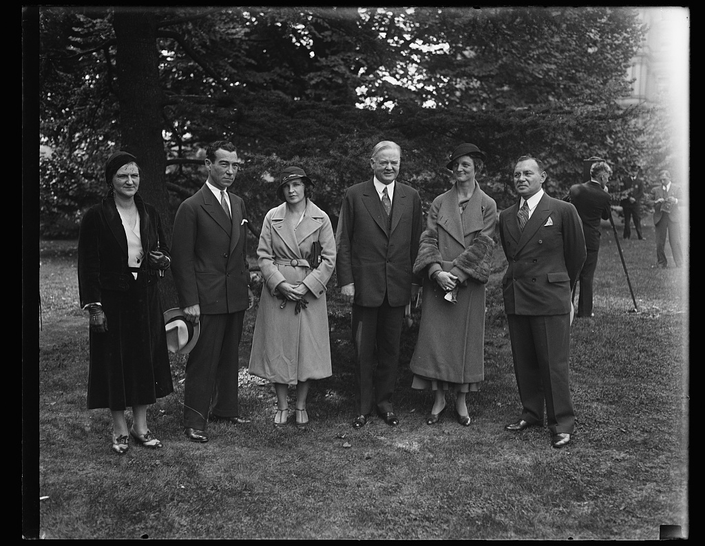 [Herbert Hoover and group]