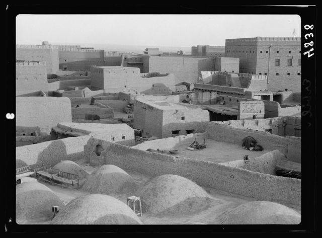 Iraq. Arbela. (Erbil). Center of Ishtar cult in Assyrian period, 2200 B.C. View of the town. The older town within the city walls taken from the minaret