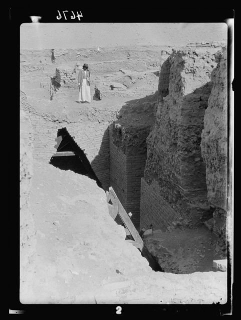 "Iraq. Babylon ""the great."" Various views of the crumbling ruins. A subterranean dwelling. Used of old to escape the summer heat"