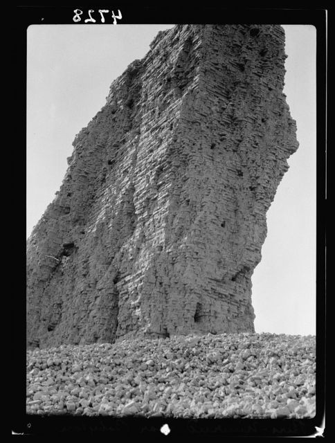 Iraq. Birs Nimrud. (Possibly the Tower of Babel). Detail view of the Tower