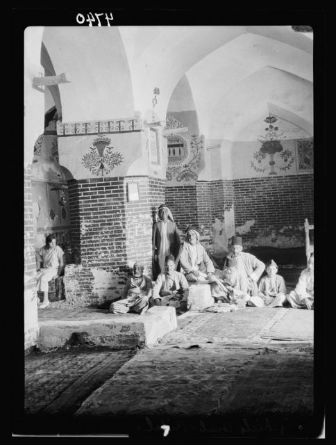 Iraq. Kifl. Native Moslem [i.e., Muslim] village with a Jewish shrine to the prophet Ezekiel. Interior of the shrine