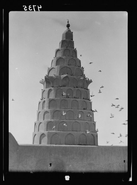 Iraq. Kifl. Native Moslem [i.e., Muslim] village with a Jewish shrine to the prophet Ezekiel. Conical tower over Ezekiel's tomb