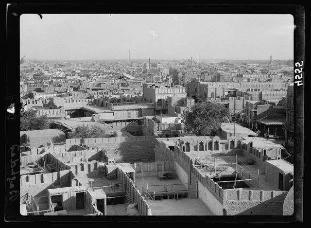 Iraq. (Mesopotamia). Baghdad. Views, street scenes, and types. From Haidar Khana Mosque looking S.E.