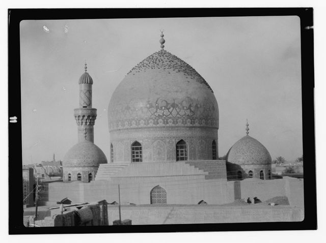 [Iraq. (Mesopotamia). Baghdad. Views, street scenes, and types. Haidar Khana Mosque. General view]