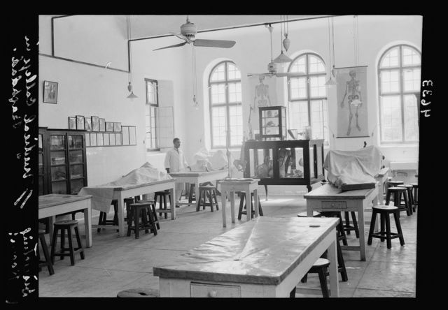 Iraq. (Mesopotamia). Royal College of Medicine of Iraq. Baghdad. Medical College. The dissecting room