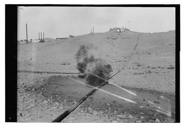 Iraq, oil fields, Pipe line on fire