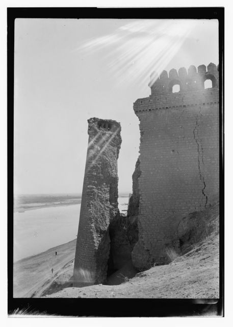 Iraq, ruins on waterfront