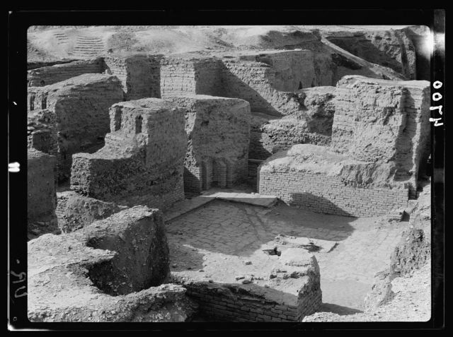 Iraq. Ur. (So called of the Chaldees). Well preserved court yard and houses