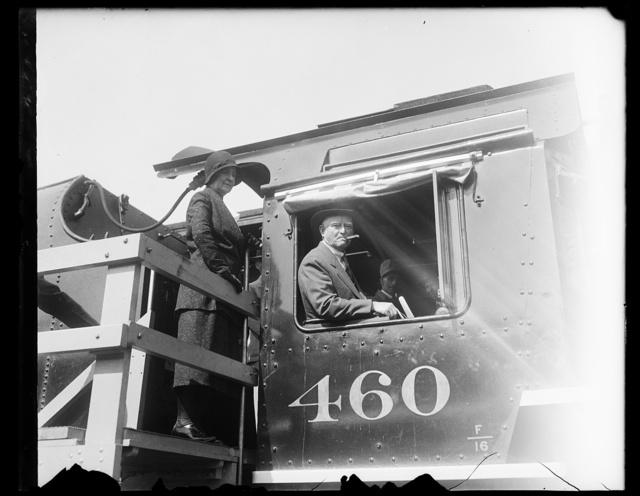 [John Nance Garner aboard train]