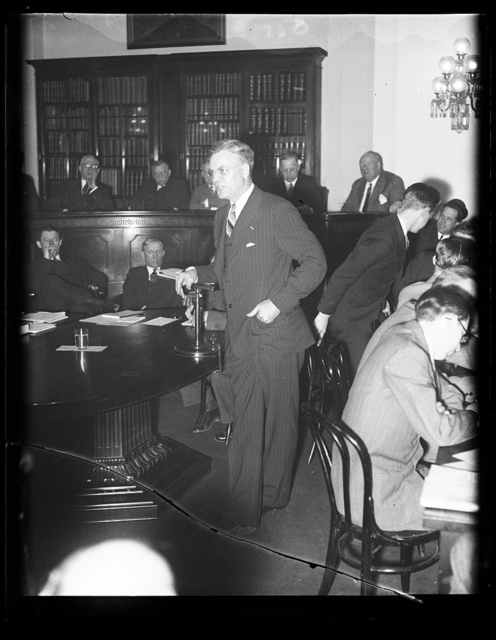 Rep. Royal Johnson before House Ways and Means Committee on bonus. Rep. Royal Johnson, of South Dakota and a World War hero himself, appeared before the House Ways and Means Committee today to voice his opposition against payment of the soldiers bonus