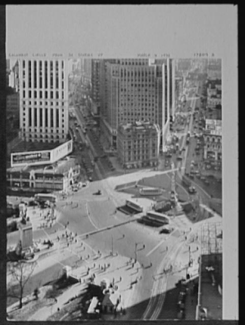 Seventy-one years, or, My life with photography. Columbus Circle from thirty stories up, Mar. 4, 1932