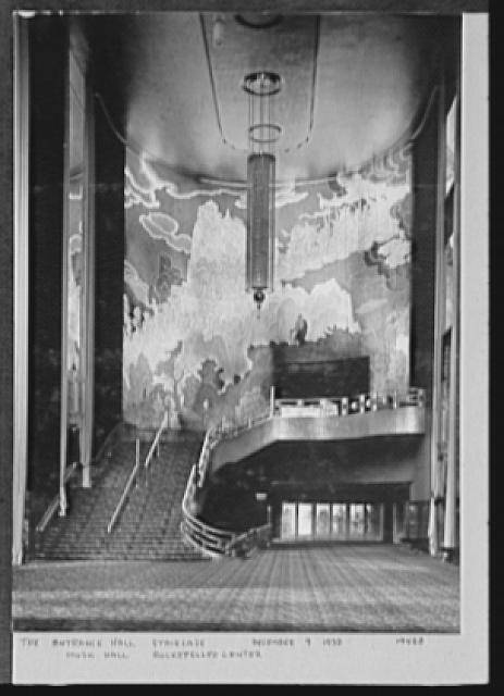 Seventy-one years, or, My life with photography. Entrance hall staircase, Music Hall, Rockefeller Center, Dec. 9, 1932