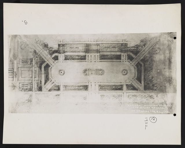"[Stadium (""National Stadium Project""), Washington, D.C. Plan. Sketch]"