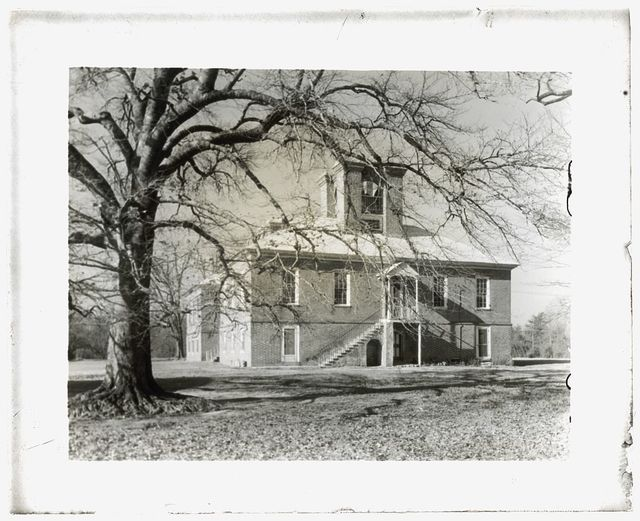 "[""Stratford Hall,"" 786 Great House Road, Stratford, Westmoreland County, Virginia. East entrance]"