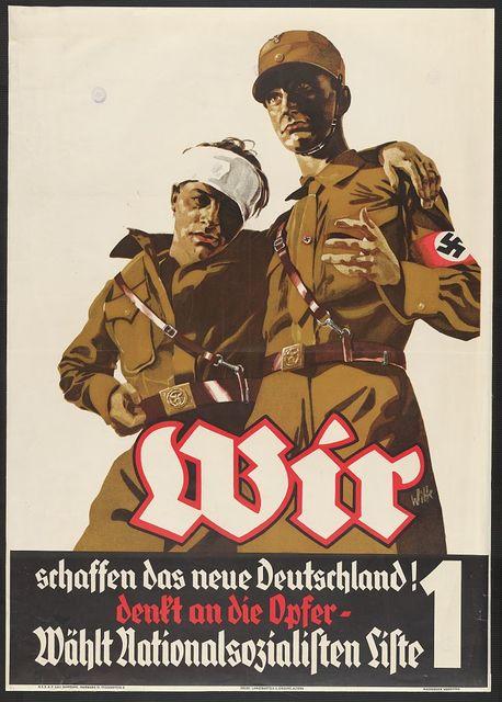Wir schaffen das neue Deutschland! Denkt an die Opfer-wählt Nationalsozialisten Liste 1 / Witte.