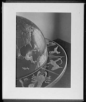 Close ups. E.F. Cadwell & Co., W. 15th St., detail of terrestial globe