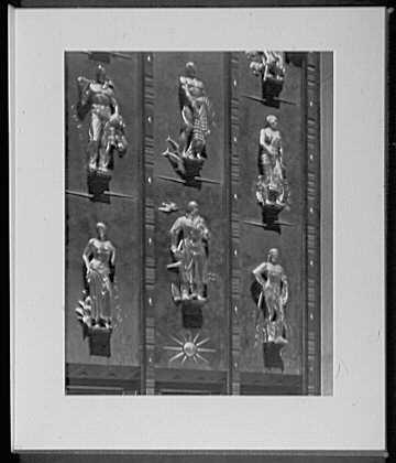 Close ups. Rockefeller Center, British Empire Building, detail of entrance