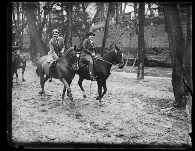 [Eleanor Roosevelt on horseback]
