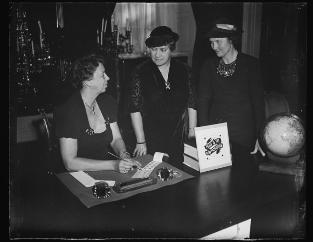 ER [i.e., Eleanor Roosevelt] globes