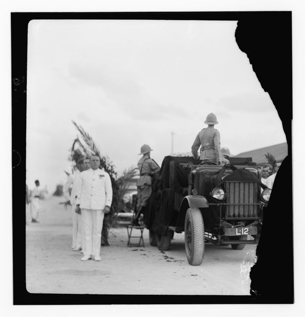Films taken on the 14th Sept. 1933 when the remains of King Feisal of Iraq was brought to Haifa from Europe to be flown on to Baghdad