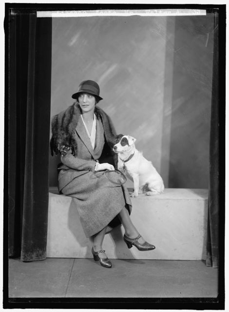FOOTE, WALTER A., MRS. PORTRAIT. WITH DOG