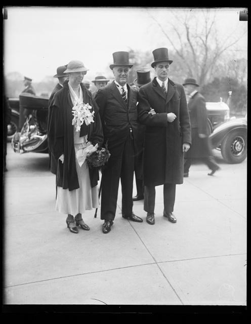 [Franklin D. Roosevelt inauguration. Eleanor Roosevelt and Franklin D. Roosevelt]