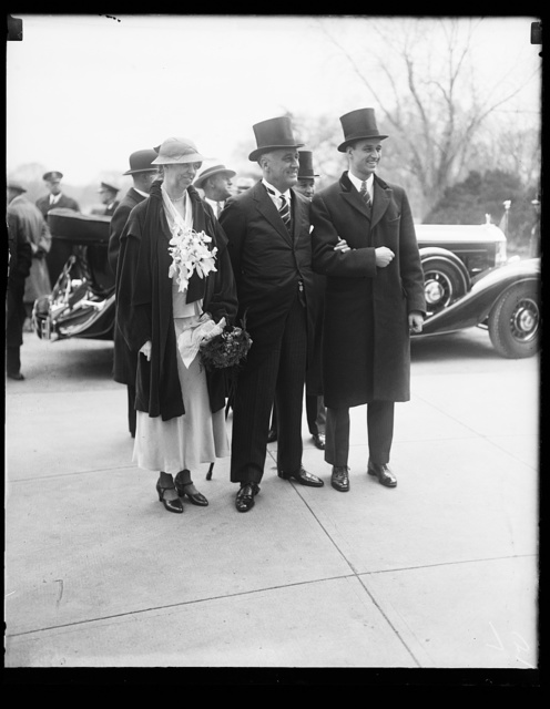 [Franklin D. Roosevelt inauguration. Eleanor Roosevelt and Franklin D. Roosevelt]