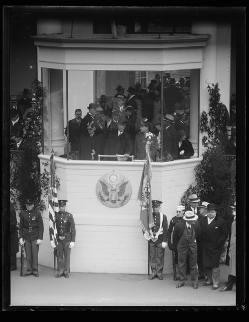 [Franklin D. Roosevelt inauguration. Parade viewing stand. Washington, D.C.]