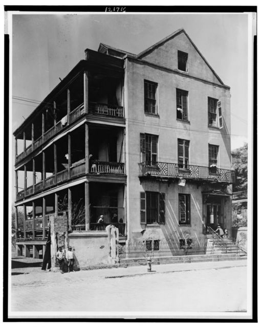 [Front and side view of apartment(?) house, 61 Washington Street, Charleston, South Carolina]