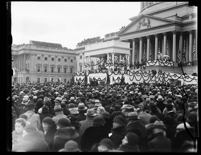 [Inauguration of Franklin D. Roosevelt. Crowd outside U.S. Capitol, Washington, D.C.]
