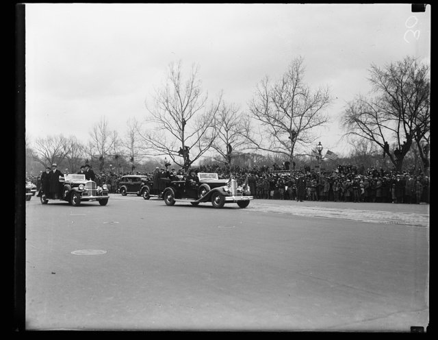 [Inauguration of Franklin D. Roosevelt. Motorcade. Washington, D.C.]