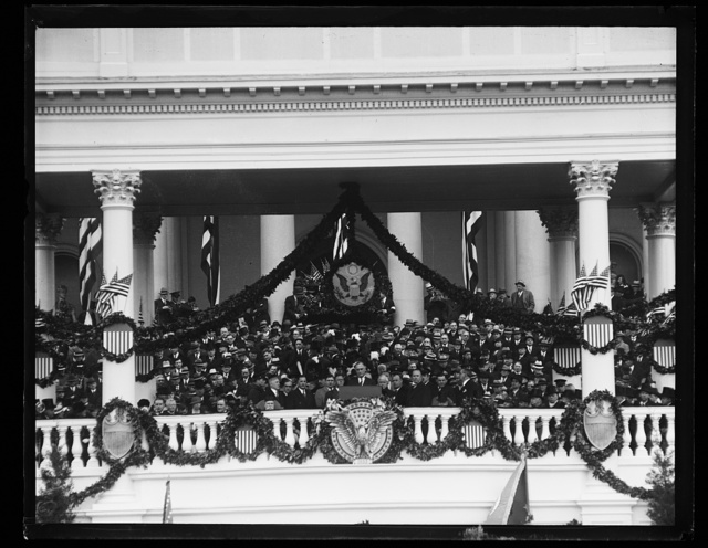 [Inauguration of Franklin D. Roosevelt. Roosevelt at podium, U.S. Capitol, Washington, D.C.]
