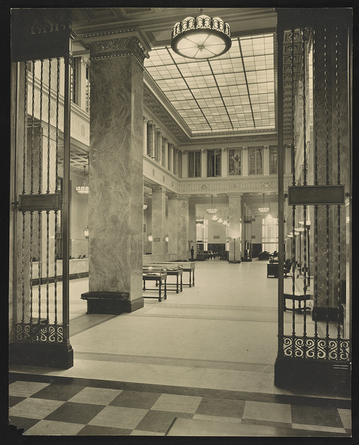 [Interior of Enoch Pratt Free Library, Baltimore, Maryland] / Holmes I. Mettee photography, 523 N. Charles St., Baltimore.