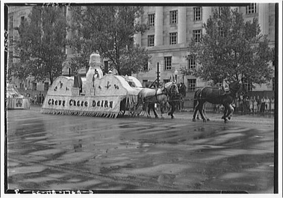 Labor Day Parade. Float of Chevy Chase dairy