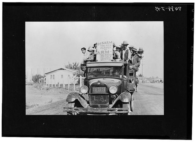 Mexican workers on strike. California