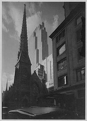 New York city views. Church and RCA Building II
