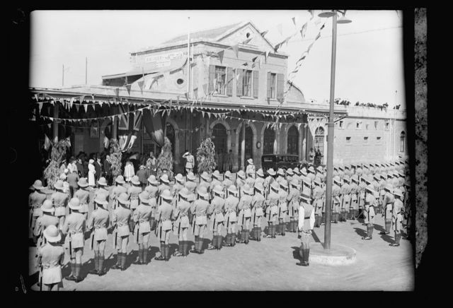 Queen Mannen of Ethiopia visits Jerusalem. Sept. 6, 1933. H.M. the Queen of Ethiopia arrives in Jerusalem. Official reception with the guard of honour