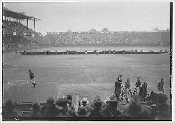 World Series of 1933, Washington, D.C. Covering the field