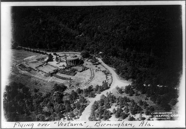 "[Aerial views of Birmingham, Alabama: ""Vestavia"" Temple, built by George B. Ward]"
