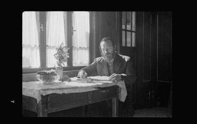 [Askenazim [i.e., Ashkenazi] Jew in his home (scribe)]
