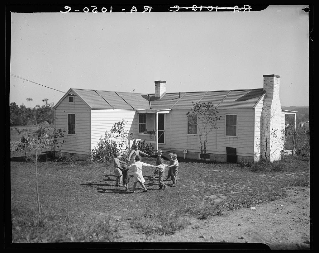 Children in front of their new home. Reedsville, West Virginia