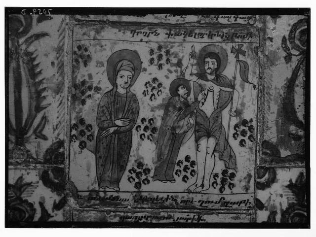 Church of St. James. Ancient tiles from 1719 A.D. of N.T. [i.e., New Testament] scenes