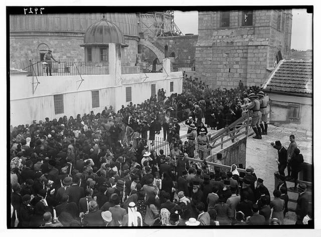 Crowds on the roof of the Greek convent. Holy Fire celebration [Church of the Holy Sepulchre]