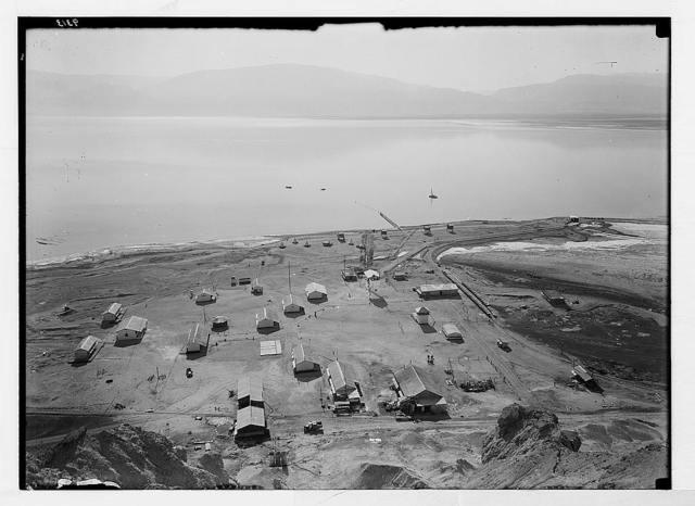Dead Sea album prepared for the Palestine Potash Ltd. Palestine Potash camp at Usdum