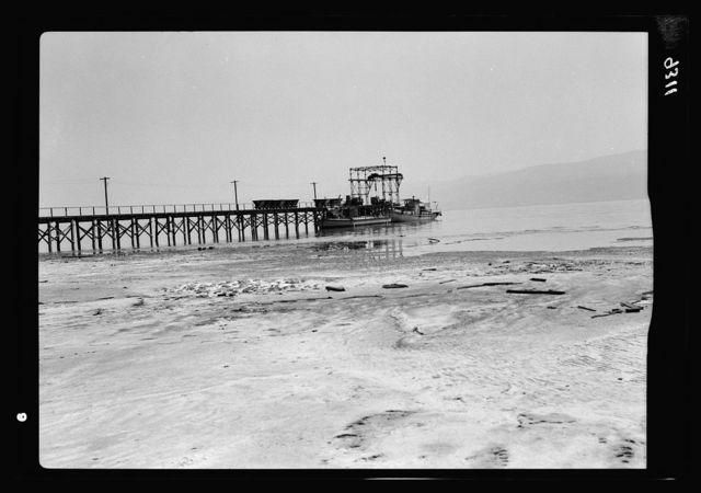 Dead Sea Album, prepared for the Palestine Potash Ltd. Pier at the south end on the shores of Usdum