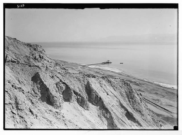 Dead Sea album prepared for the Palestine Potash Ltd. View from the top of Usdum looking N.E.