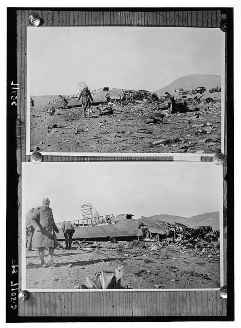 Dutch Airplane disaster. Dec. 1934