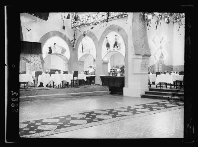 Egypt. Cairo. Hotels. Mena House. In the dining hall